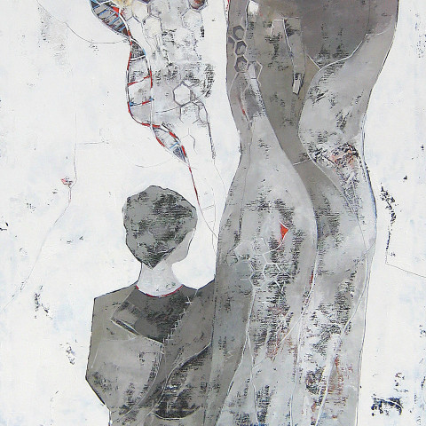 """""""Segni Invisibili del Tempo""""    170 x 70  (sold)"""