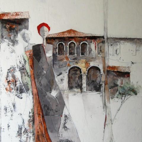 """""""Visita nel Borgo senza Te""""   90 x 80"""