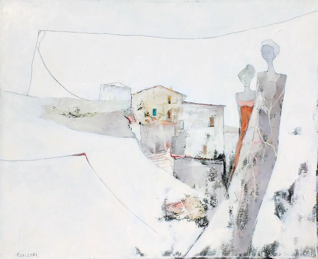 Paesaggio con Figure, 70 x 80
