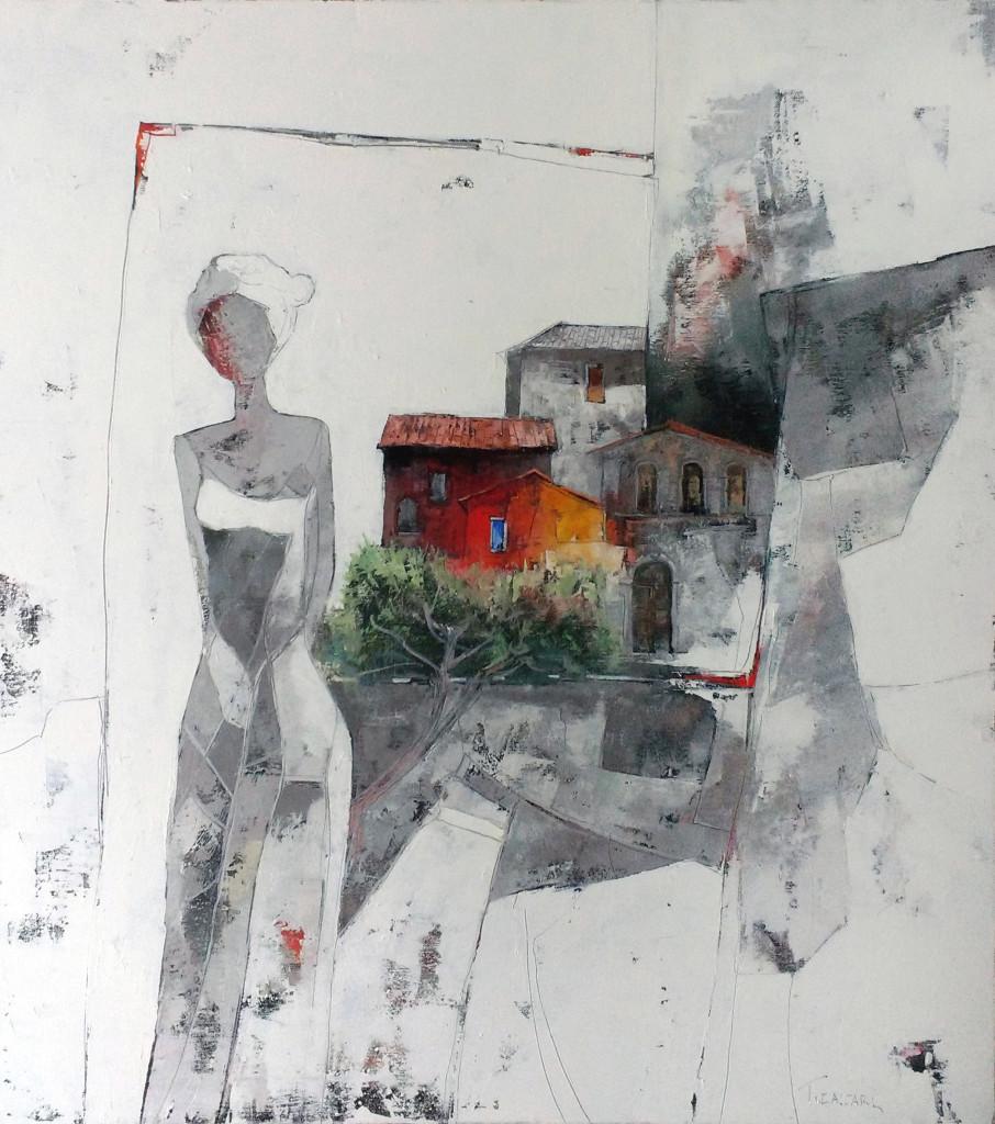 Sogno in Paese 90x80 olio su tela 2015