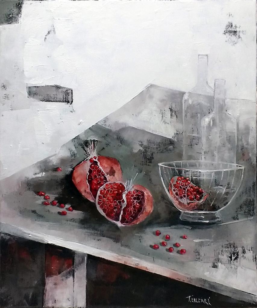 Sul tavolo Posati 60x50 olio su tela 2016
